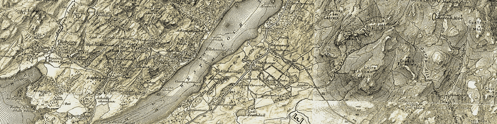 Old map of Achnaclaod in 1905-1907