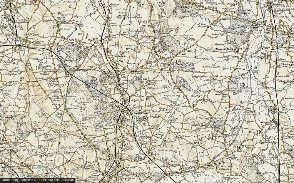 Old Map of Whitehouse Common, 1901-1902 in 1901-1902