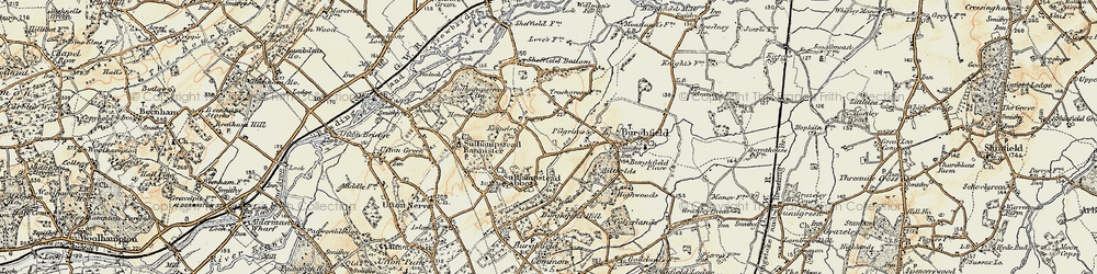 Old map of Whitehouse Green in 1897-1900