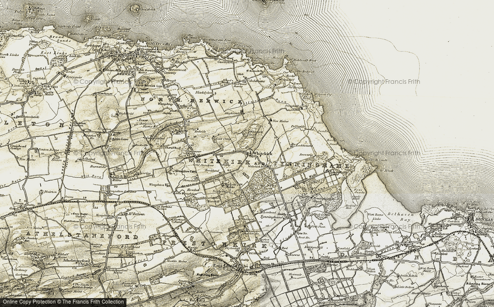 Old Map of Historic Map covering Bankhead in 1901-1906