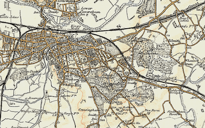 Old map of Whiteknights in 1897-1909