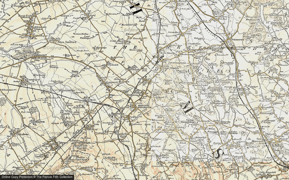 Old Map of Whiteleaf, 1897-1898 in 1897-1898