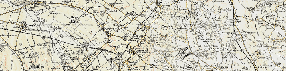 Old map of Whiteleaf in 1897-1898