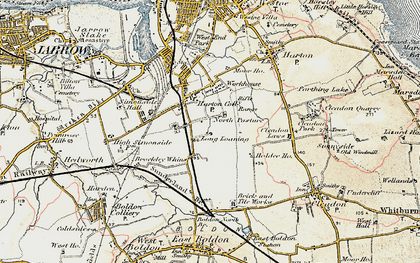 Old map of Whiteleas in 1901-1904