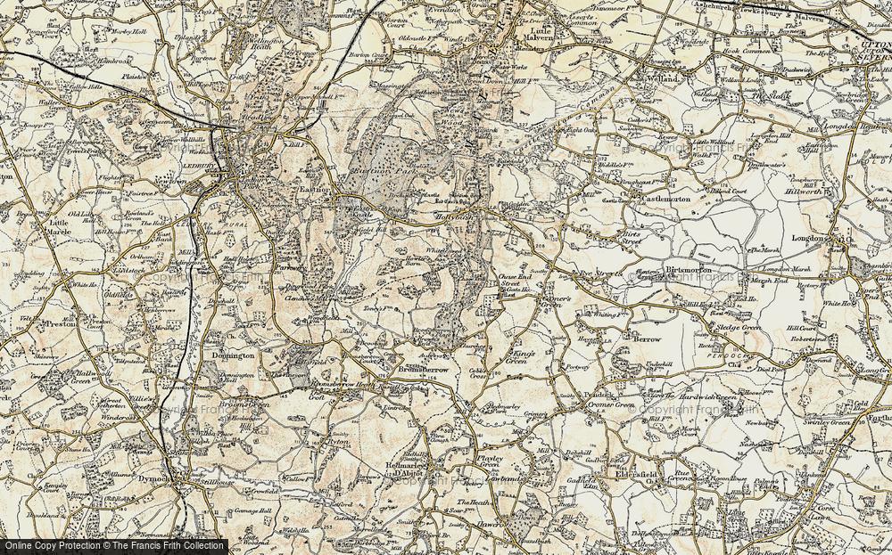 Old Map of Whiteleaved Oak, 1899-1901 in 1899-1901