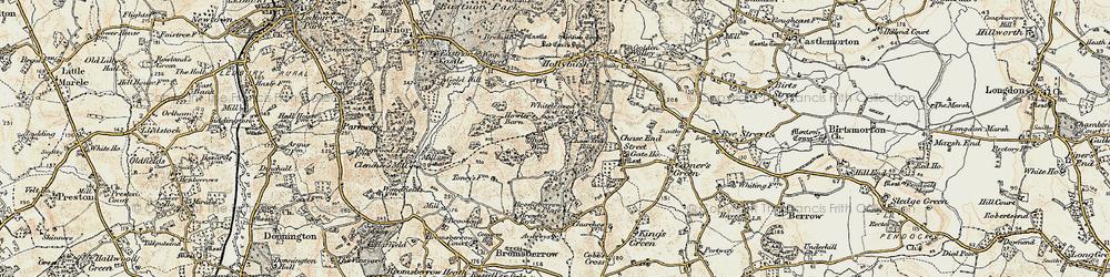 Old map of Whiteleaved Oak in 1899-1901