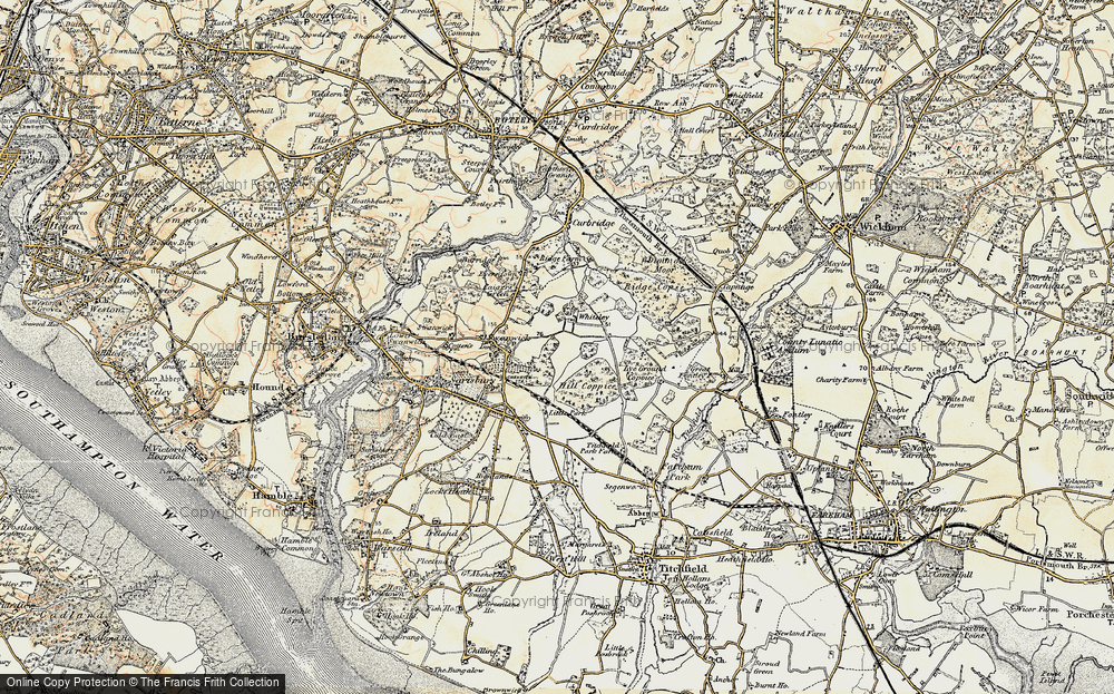 Old Map of Whiteley, 1897-1899 in 1897-1899