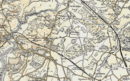 Old map of Whiteley in 1897-1899