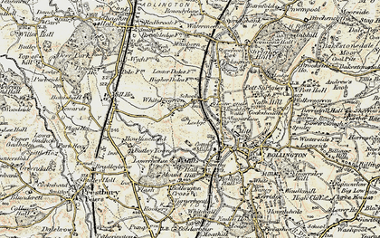 Old map of Whiteley Green in 1902-1903