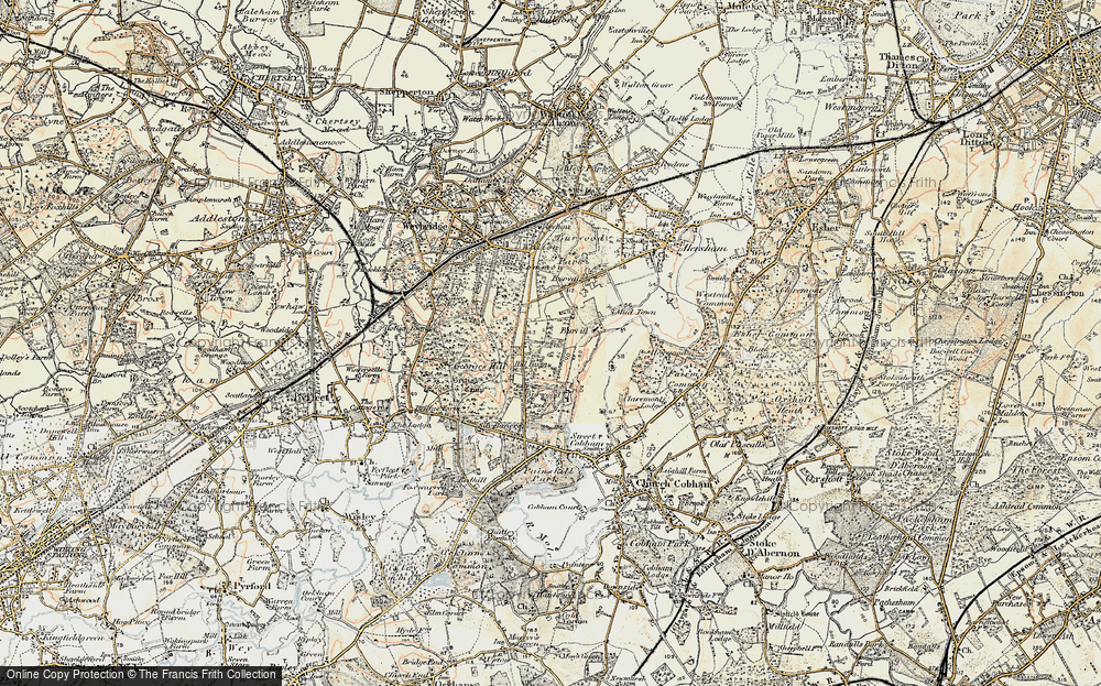 Old Map of Whiteley Village, 1897-1909 in 1897-1909