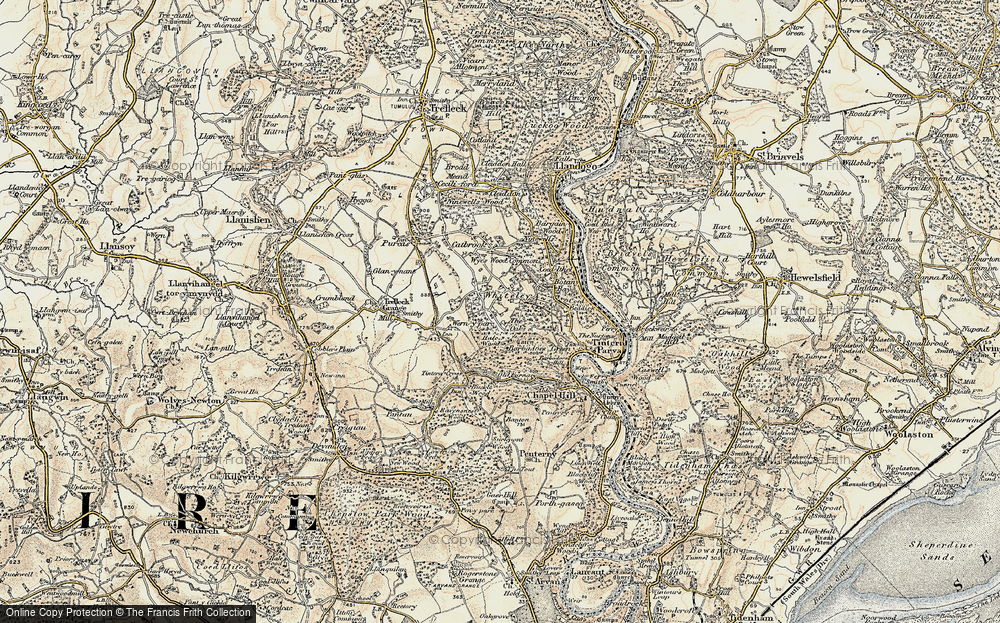 Old Map of Historic Map covering Barbadoes Green in 1899-1900