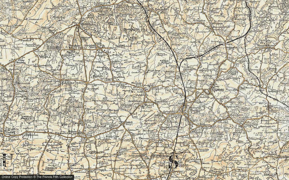 Old Map of Whitemans Green, 1898 in 1898