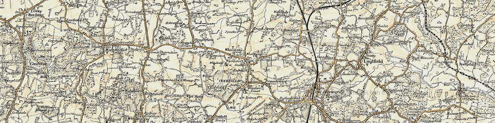 Old map of Whitemans Green in 1898
