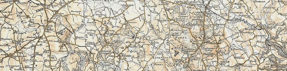 Old map of Whitemoor in 1900