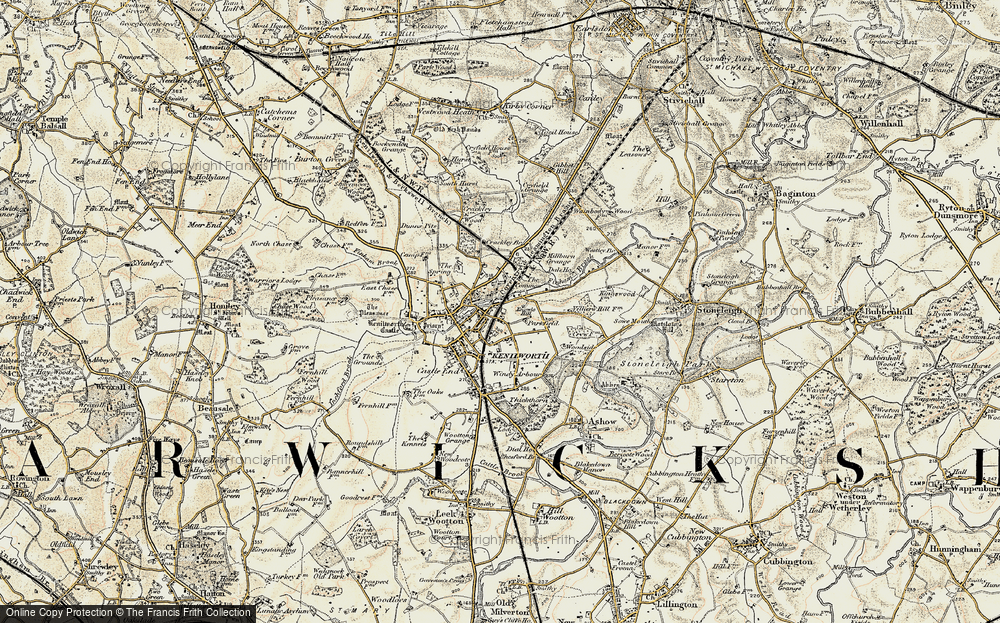 Old Map of Whitemoor, 1901-1902 in 1901-1902