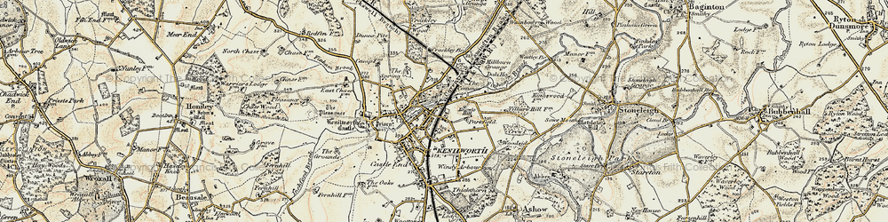 Old map of Whitemoor in 1901-1902