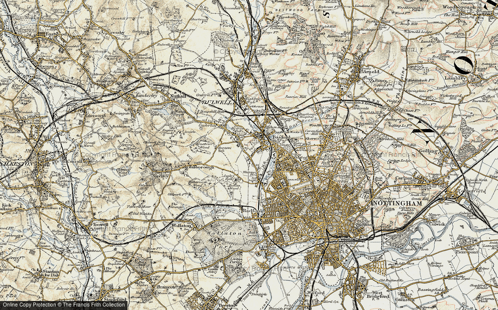 Old Map of Whitemoor, 1902-1903 in 1902-1903