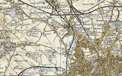 Old map of Whitemoor in 1902-1903