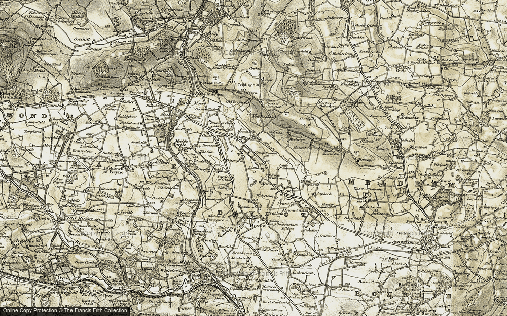 Old Map of Whitemyres, 1909-1910 in 1909-1910