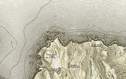 Old map of Whiten Head in 1910