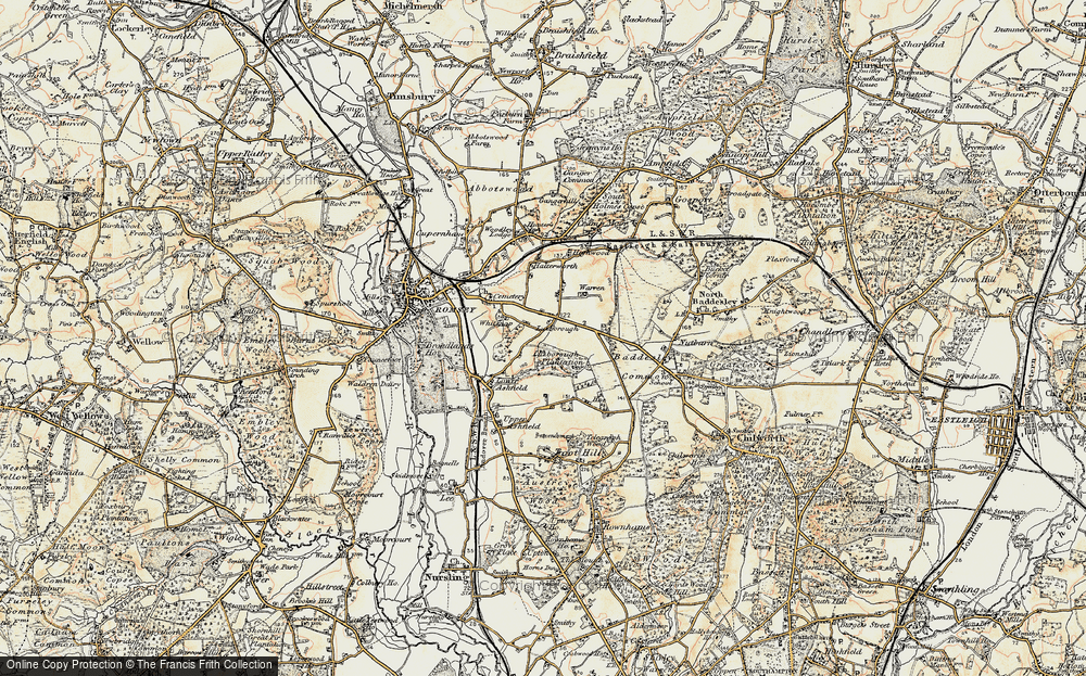Old Map of Whitenap, 1897-1909 in 1897-1909