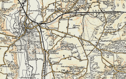 Old map of Whitenap in 1897-1909
