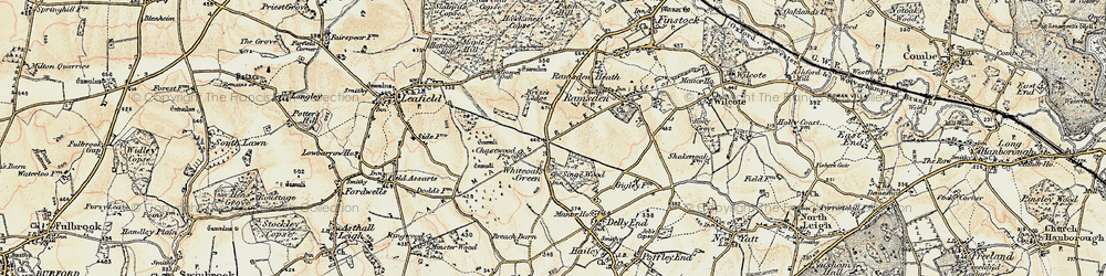 Old map of Whiteoak Green in 1898-1899