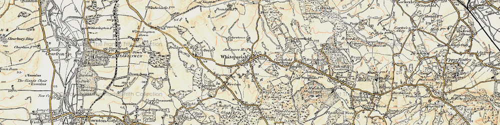 Old map of Whiteparish in 1897-1909