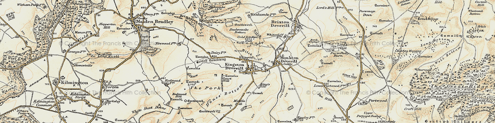 Old map of Whitepits in 1897-1899
