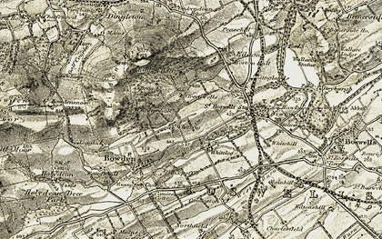 Old map of Whiterigg in 1901-1904