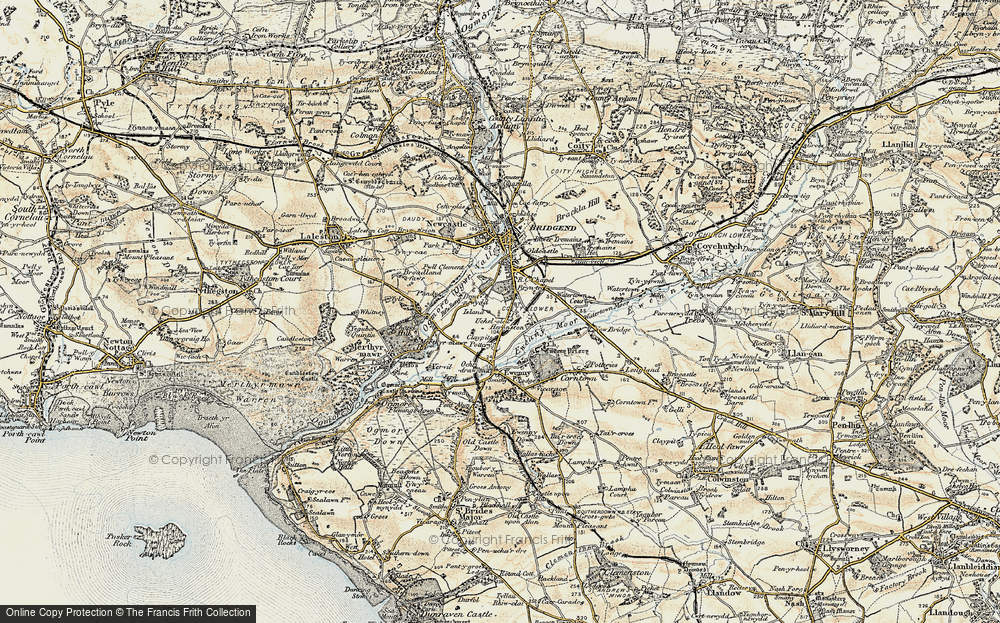 Old Map of Whiterock, 1900 in 1900