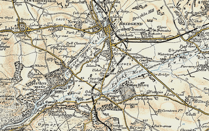 Old map of Whiterock in 1900