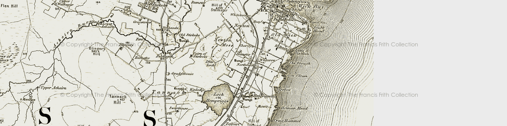 Old map of Whiterow in 1912
