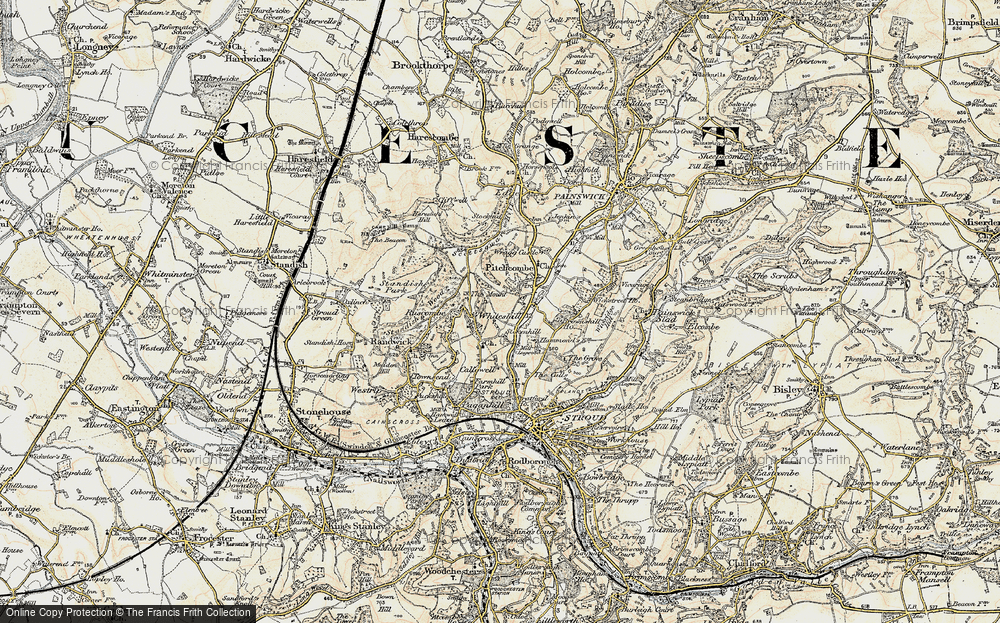 Old Map of Whiteshill, 1898-1900 in 1898-1900