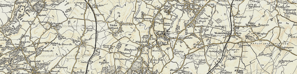 Old map of Whiteshill in 1899