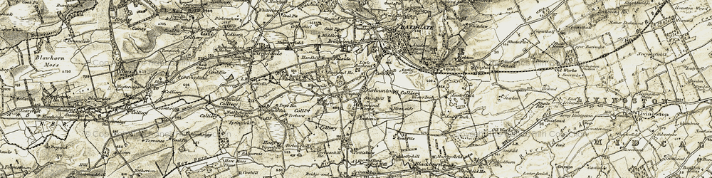 Old map of Whiteside in 1904