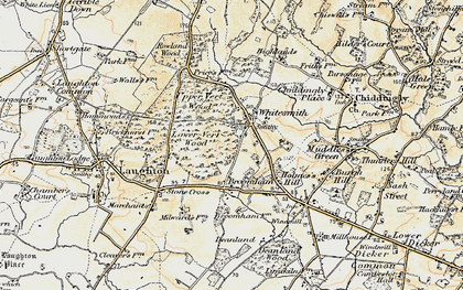 Old map of Whitesmith in 1898