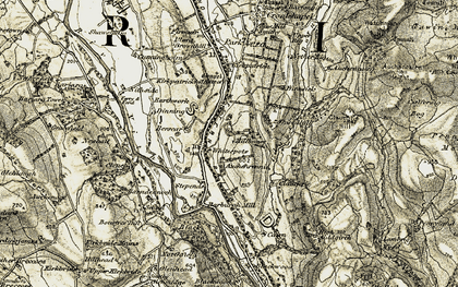 Old map of Auchenage in 1904-1905