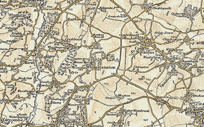Old map of Whitestaunton in 1898-1900