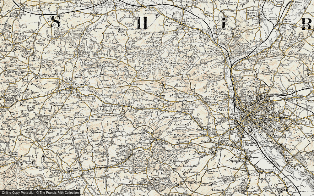 Old Map of Historic Map covering Alphincombe in 1899-1900