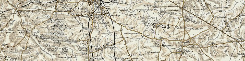 Old map of Whitestone in 1901-1902
