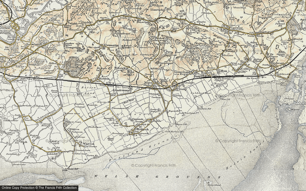 Old Map of Whitewall Common, 1899-1900 in 1899-1900