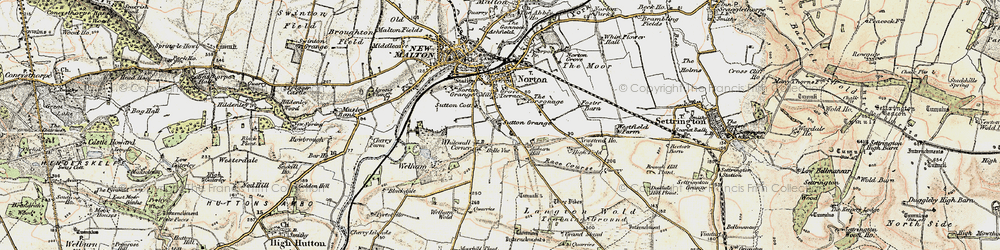 Old map of Leat Ho in 1903-1904