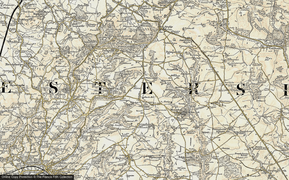 Old Map of Whiteway, 1898-1899 in 1898-1899