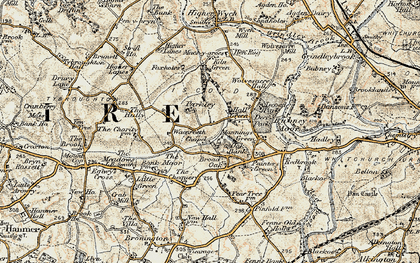Old map of Whitewell in 1902