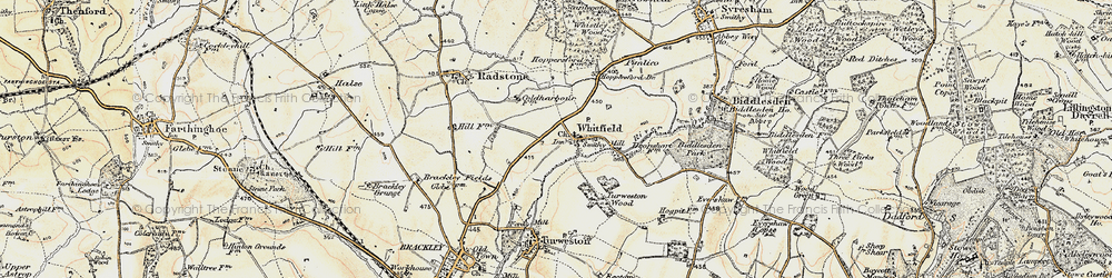 Old map of Whitfield in 1898-1901
