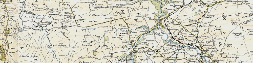 Old map of Whitfield in 1901-1904