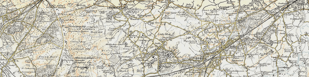 Old map of Whitfield Court in 1897-1909