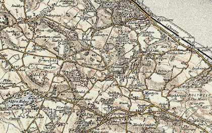 Old map of Whitford in 1902-1903