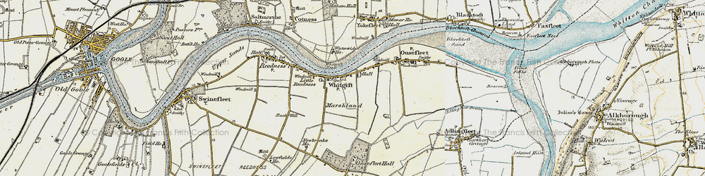 Old map of Whitgift in 1903